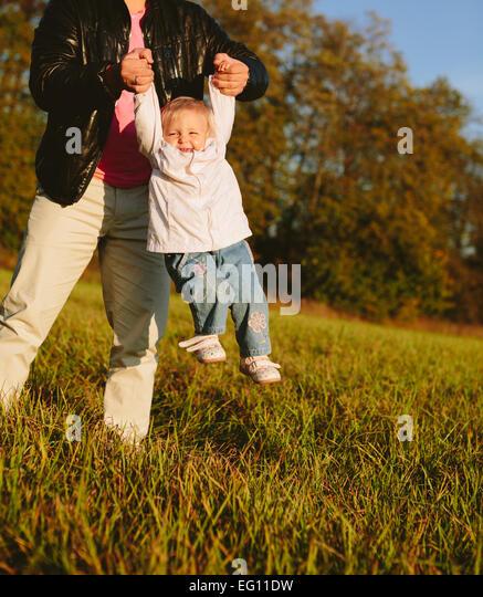Dad and daughter - Stock-Bilder