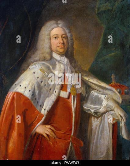 British - Portrait of a Baron - Stock Image