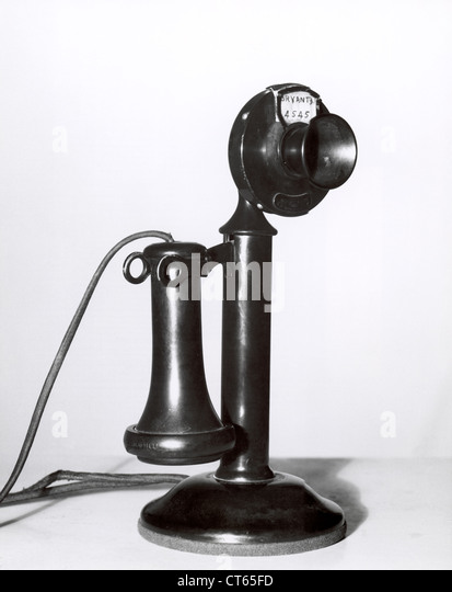Antique telephone - Stock-Bilder