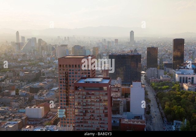 View over Mexico City - Stock Image