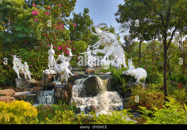 Thailand, Asia, Bangkok, Old, Siam Park, artistic, beautiful, colourful, elephant, garden, monumental, old, park, - Stock-Bilder
