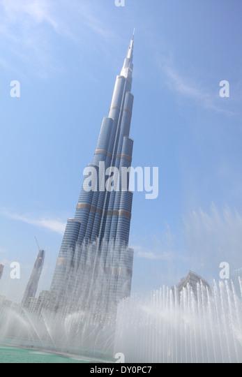 Downtown Dubai, Burj Khalifa, Burj park, Dubai - Stock Image