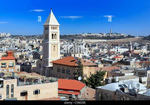 Syrian church of St. Mark (12th century), Jerusalem, Israel - Stock Image