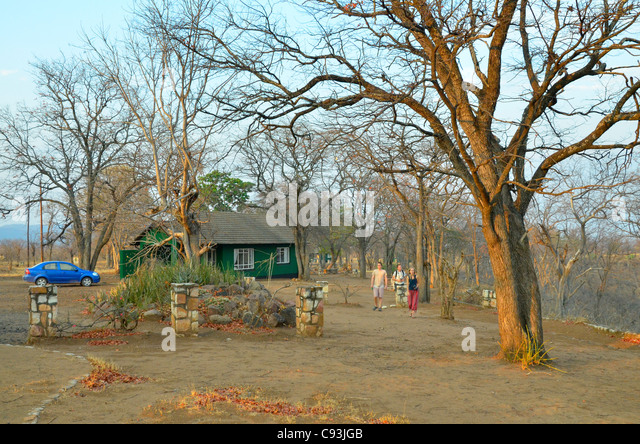 Chalet in Sinamatella camp, Hwange national park, Zimbabwe - Stock Image