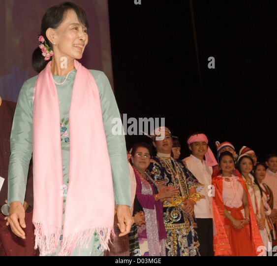 Aung San Suu Kyi. Meeting with the people of Burma at the Royal Festival Hall London UK 22 June 2012 - Stock-Bilder