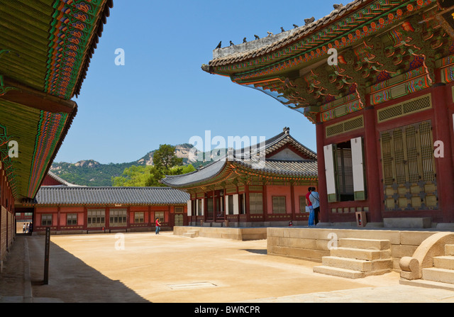 Gyeongbokgung Palace Seoul South Korea. JMH3905 - Stock Image