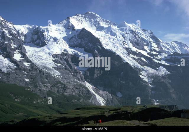 The Jungfrau, Grindelwald, Bernese Oberland, Switzerland - Stock Image