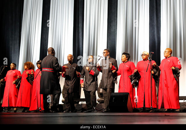 Detroit, Michigan - The Selected of God Choir performs at the opening session of the Intelligent Transport Systems - Stock Image