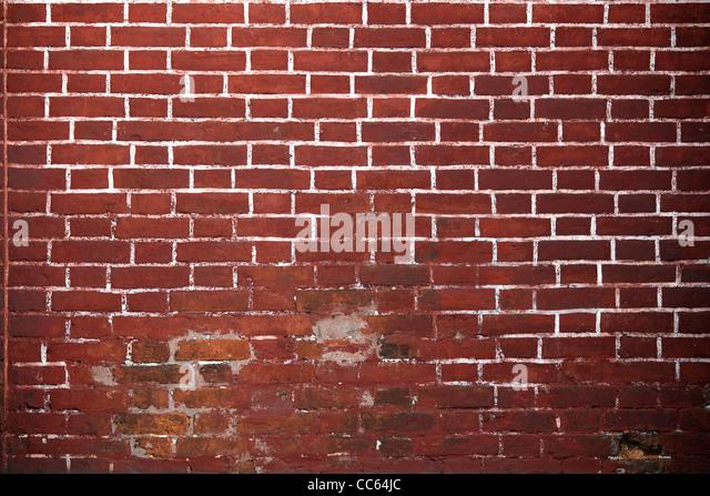 Old red brick wall background. - Stock-Bilder