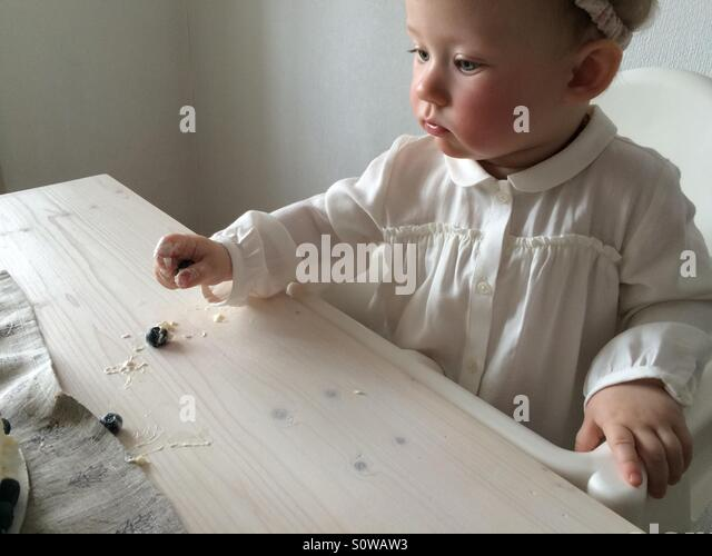 Baby first birthday party - Stock Image