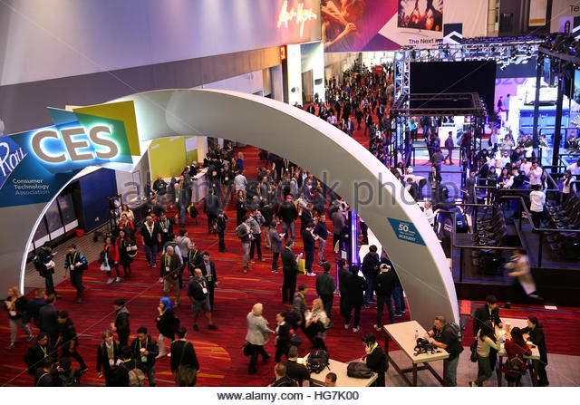 The lobby of the Las Vegas Convention Center is shown during the 2017 CES in Las Vegas, Nevada, U.S., January 5, - Stock-Bilder