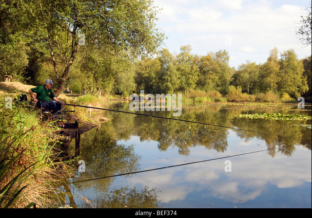 Biting fish stock photos biting fish stock images alamy for Stocked fishing ponds near me