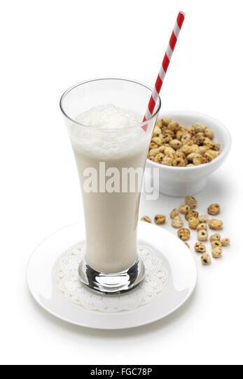 homemade horchata, spanish valencia soft drink - Stock Image
