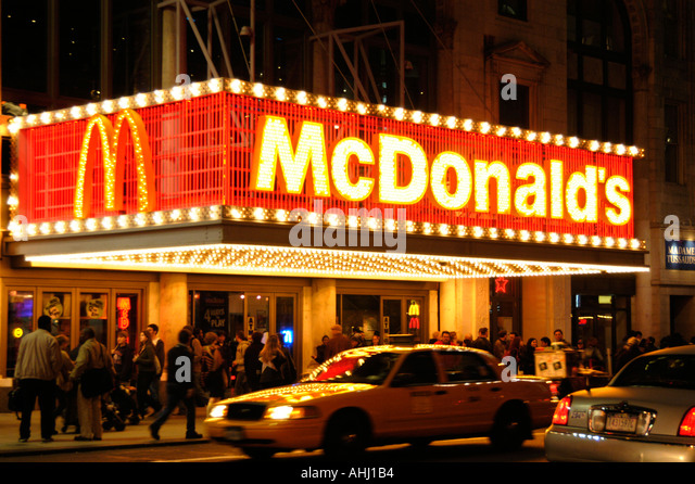 Restaurant exterior outside takeaway stock photos for Mcdonalds norwich ny
