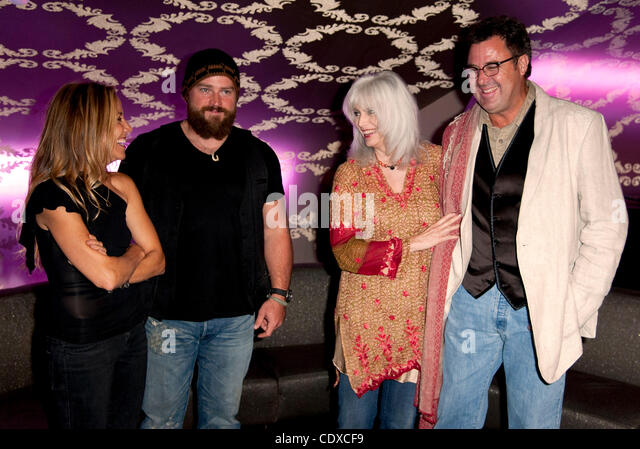 Sept. 13, 2011 - Los Angeles, California, USA -  From left, Sheryl Crow, Zac Brown, Emmylou Harris and Vince Gill - Stock Image