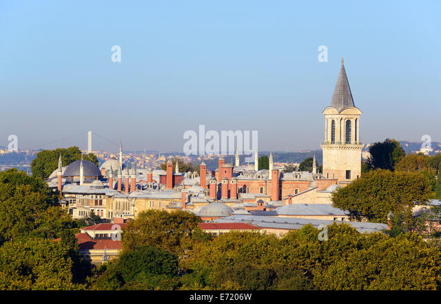 Topkapi Palace, European side, Istanbul, Turkey - Stock Image