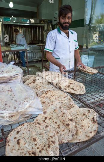 Iran, Esfahan City, Bakery, - Stock Image