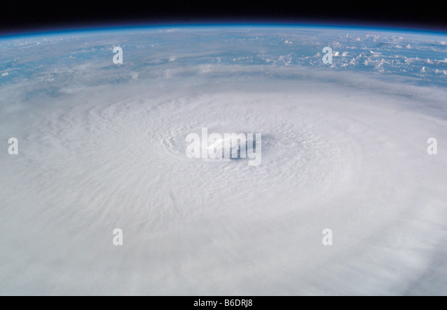 Hurricane Isabel. This image was taken from the International Space Station on 13th September 2003. - Stock Image