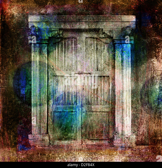 Antique Doors. Photo based illustration.  - Stock Image