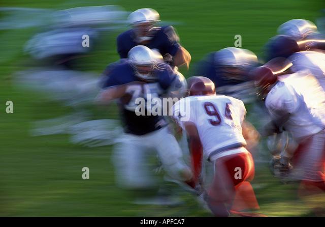 Sport Team Sports Ball Games American Football - Stock Image