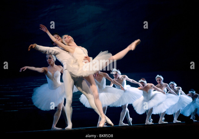 Russia, St.Petersburg; Prince Sigfried played by Yuri Kalinin, Tchaikovsky's 'Swan Lake' - Stock Image