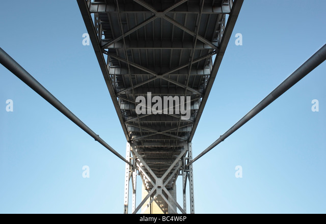 San Francisco iron and concrete Bay Bridge - Stock Image