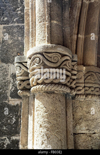 Architectural historic detail, old town in Rhodes, Dodecanese Islands, Greece - Stock-Bilder