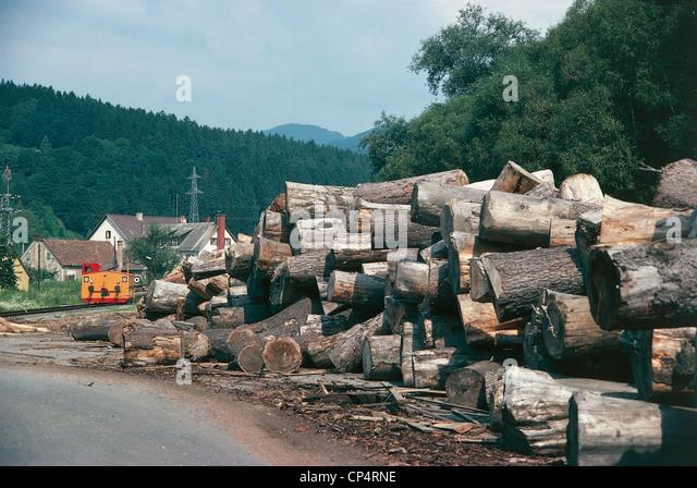 Austria - Styria - Gratkorn. Paper industry, wood - Stock-Bilder