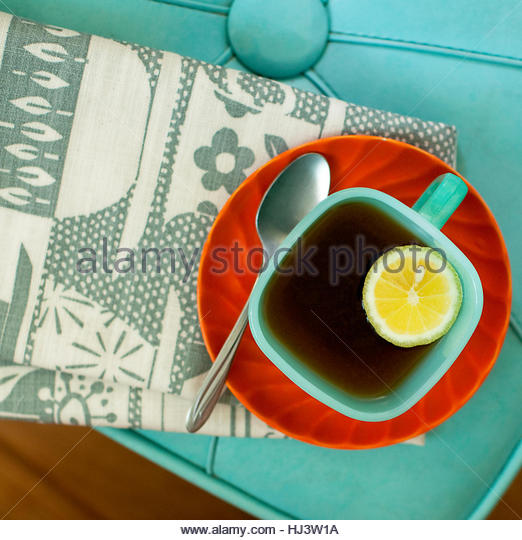 Tea in Turquoise - Stock Image
