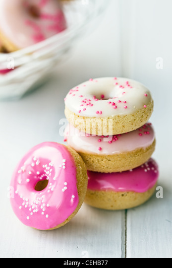 Mini doughnuts - Stock Image