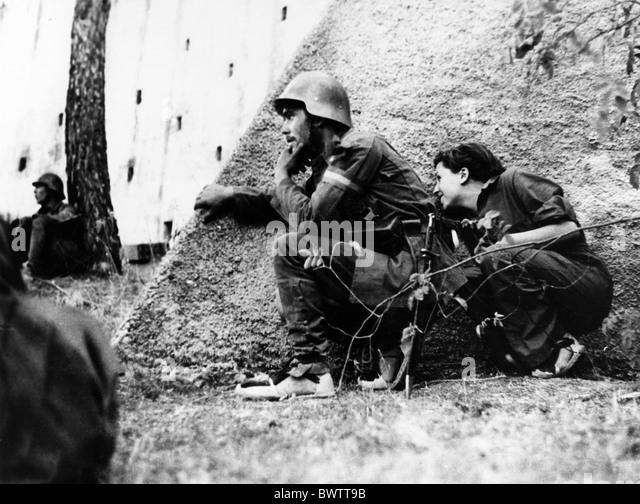 Gerta Taro photographer Spanish Civil War Spain Europe war Robert Capa army military - Stock Image