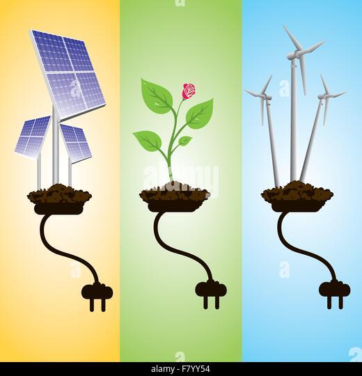 renewable energy concept - Stock Image