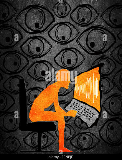 privacy concept high quality digital illustration - Stock Image