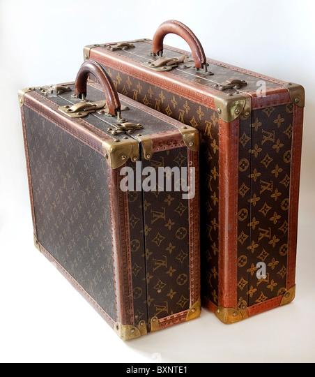 Louis Vuitton Vintage suitcases. - Stock-Bilder