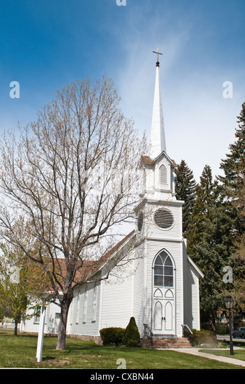 Historic St. Peter's Episcopal Church, Carson City, Nevada, United States of America, North America - Stock Image