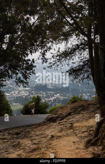 View from the Entoto hill road over Addis Ababa, Ethiopia - Stock Image