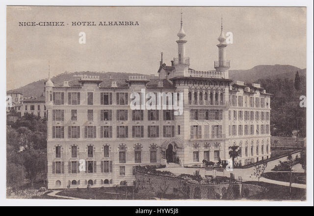 Hotel Alhambra, Nice, France - Stock Image