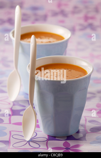 Cream of carrot - Stock Image