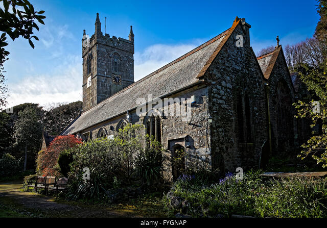 Gulval Parish Church, Penzance, Cornwall, England, UK - a 12th century church - Stock Image