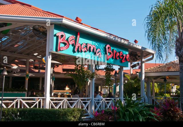 Orlando, Florida, Bahama Breeze restaurant on International Drive (I-Drive) - Stock Image