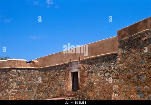 Venezuela Isla Margarita island Castillo de Santa Rosa fort entrance gate La Asuncion - Stock Image