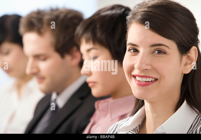 A line of young professionals - Stock Image