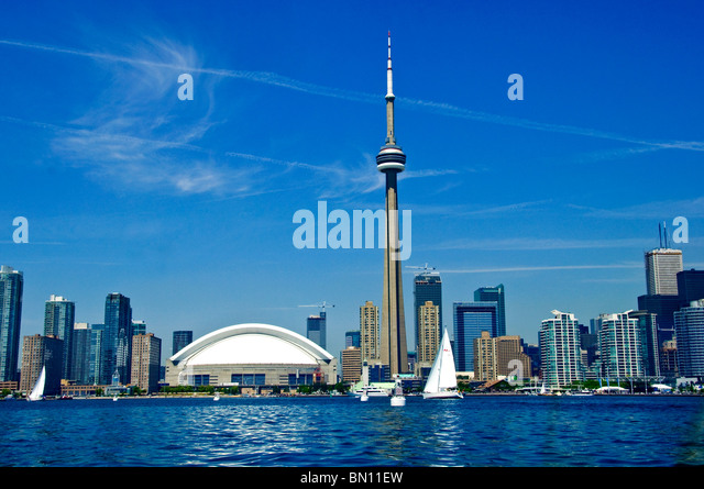 toronto skyline and waterfront - Stock Image