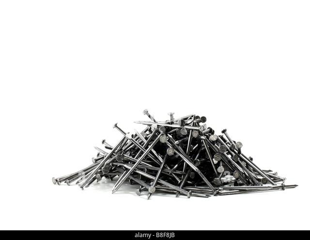 Stack of Construction nails - Stock-Bilder
