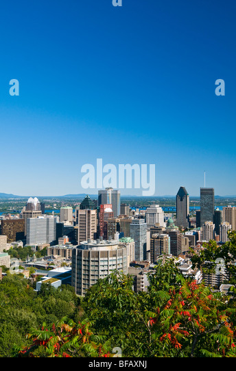 View of Montreal Canada - Stock Image