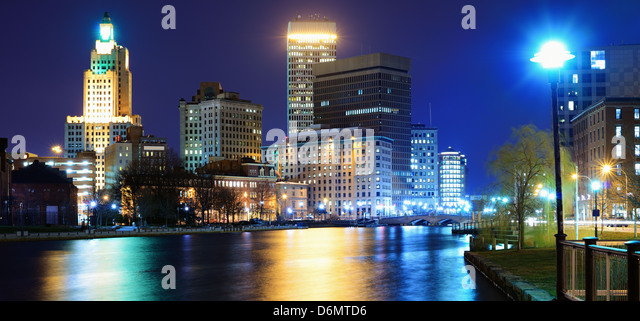 Providence, Rhode Island was one of the first cities established in the United States. - Stock Image