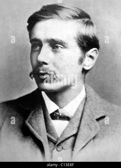 H.G. Wells, author as a young man, in the 1800s. - Stock-Bilder
