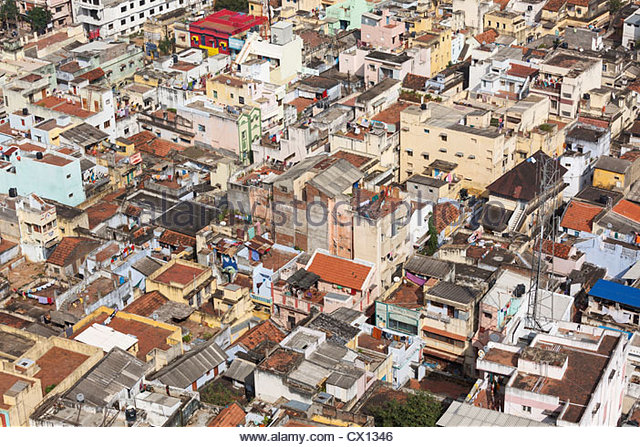 Tiruchirappalli, aerial view, Tamil Nadu, India - Stock-Bilder