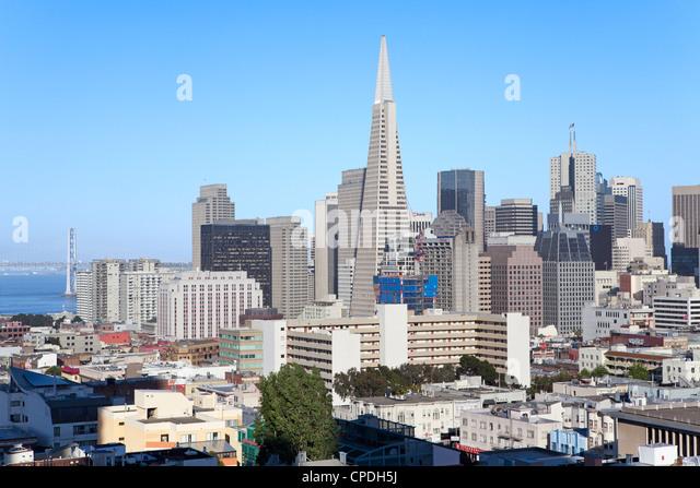City skyline, San Francisco, California, United States of America, North America - Stock Image