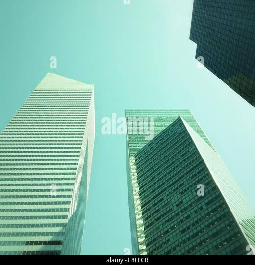 Skyscrapers on Lexington Avenue, Manhattan, New York, America, USA - Stock Image